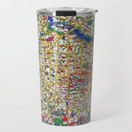ANN ARBOR University map MICHIGAN dorm Travel Mug