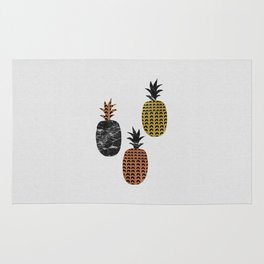 Pineapples Art Print Rug
