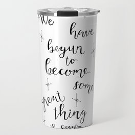 Some Great Thing: Black and White Travel Mug