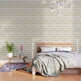 Gold Love Quote Pattern Typography Script Wallpaper