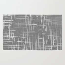 Crosshatch Gray Rug