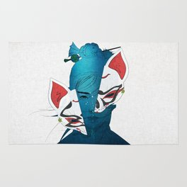 Fox Mask Rug