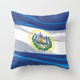 El Salvador Fancy Flag Throw Pillow