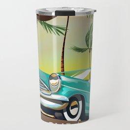 Cuba vintage travel poster print Travel Mug