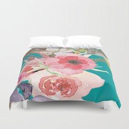 Flowers , floral , shabby chic décor,  flower decor , Duvet Cover