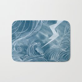 The wave in a bubble Bath Mat