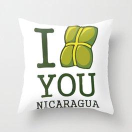 I nacatamal You Nicaragua Throw Pillow