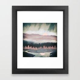 Forest Lake Evening Framed Art Print