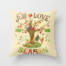 Fall in Love with the Season Throw Pillow