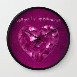 Valentine Day Print Design Wall Clock