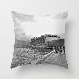 Vacation Transportation Throw Pillow