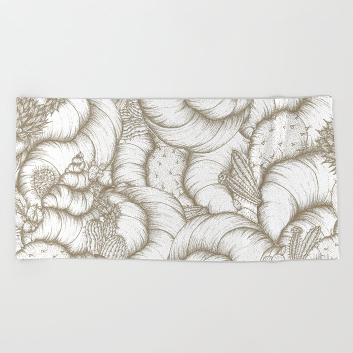 ABSTRACT CATUSES Beach Towel
