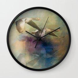 Coastal Geese Wall Clock