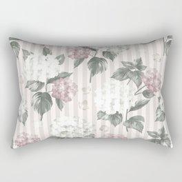 Bohemian pastel pink green floral stripes pattern Rectangular Pillow