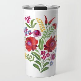 Hungarian Folk Design Red Peppers Travel Mug