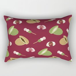 Japanese sweets (Burgundy) Rectangular Pillow