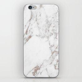 Rose gold shimmer vein marble iPhone Skin