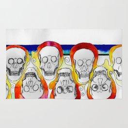 Color Skulls Rug
