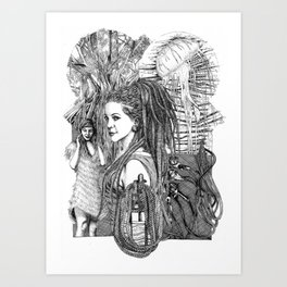 Life Out Of Lines Art Print