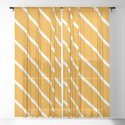 Diagonal Lines (White & Classic Orange Pattern) by luxelab