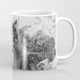 Vintage Black and White Gangster Cat Coffee Mug