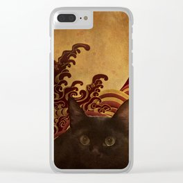 Japanese cat-82 Clear iPhone Case