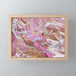 Silver tresses Framed Mini Art Print