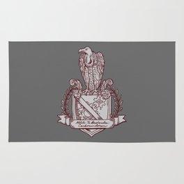 Nolite Te Bastardes Carborundorum_Burgandy Crest Rug