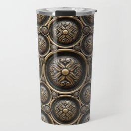 Antique Armor Pattern Travel Mug