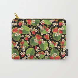 Strawberries Botanical Carry-All Pouch