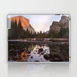 Yosemite - El Capitan & Merced River - Sunset in Winter Laptop & iPad Skin