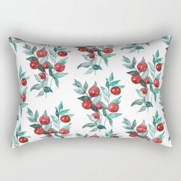 Butchers broom red berries Rectangular Pillow
