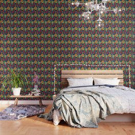 Australian Native Floral Print Wallpaper