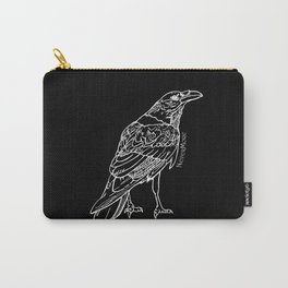 Raven White Carry-All Pouch