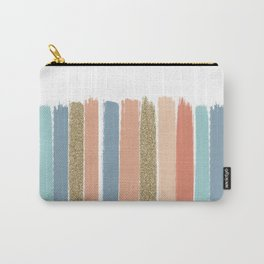Mariko - Brushstroke, Painterly, painted, paint, summer, 70s colors  Carry-All Pouch