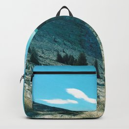landscape in turqouise Backpack