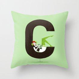 Carla & Din Throw Pillow