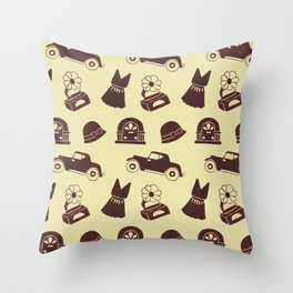 Back in the 20's Throw Pillow