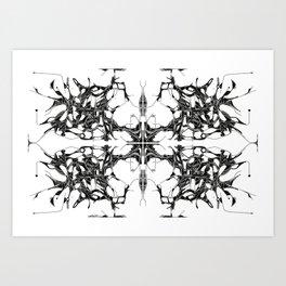 Quad Tree Lateral  Art Print