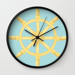 Sailin' Away Steering Wheel Wall Clock