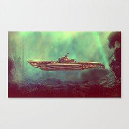 Golden Pirate Submarine Canvas Print