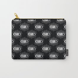 Eye of wisdom pattern - Black & White - Mix & Match with Simplicity of Life Carry-All Pouch