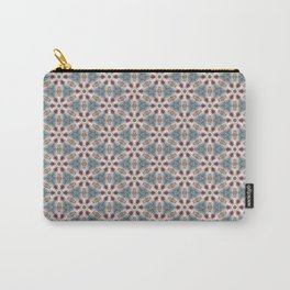 Teal & Red Geometric - Nautical Ship Wheel Carry-All Pouch
