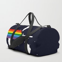 Rainbow airplane Duffle Bag