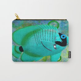 ANGEL FISH BLUE Carry-All Pouch