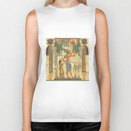 egyptian man sun god ra amun Biker Tank