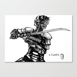 Inktober: Sword Canvas Print
