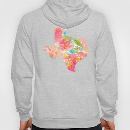Texas Floral map state map print Hoody