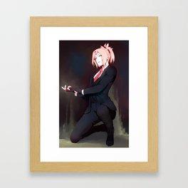 suited Framed Art Print