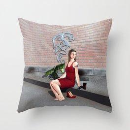 Suburban Life Throw Pillow
